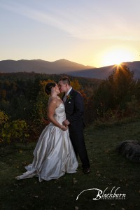 Adirondack Mountain Fall Wedding Photo