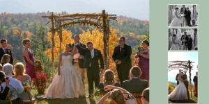 Fall Wedding Keene Mountain House Lake Placid
