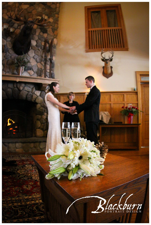 Fern Lodge Elopement Ceremony Photo