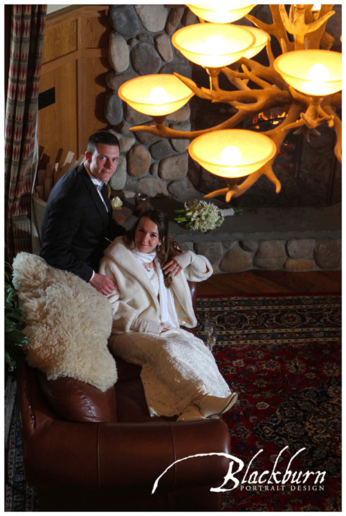Fern Lodge Winter Wedding Photo