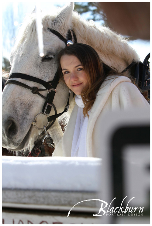 Equestrienne Bride with Horse photo
