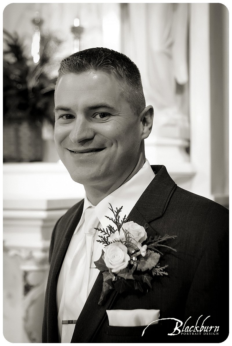 St Agnes Wedding Groom Photo