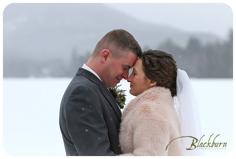 Winter Wedding Photos Lake Placid NY
