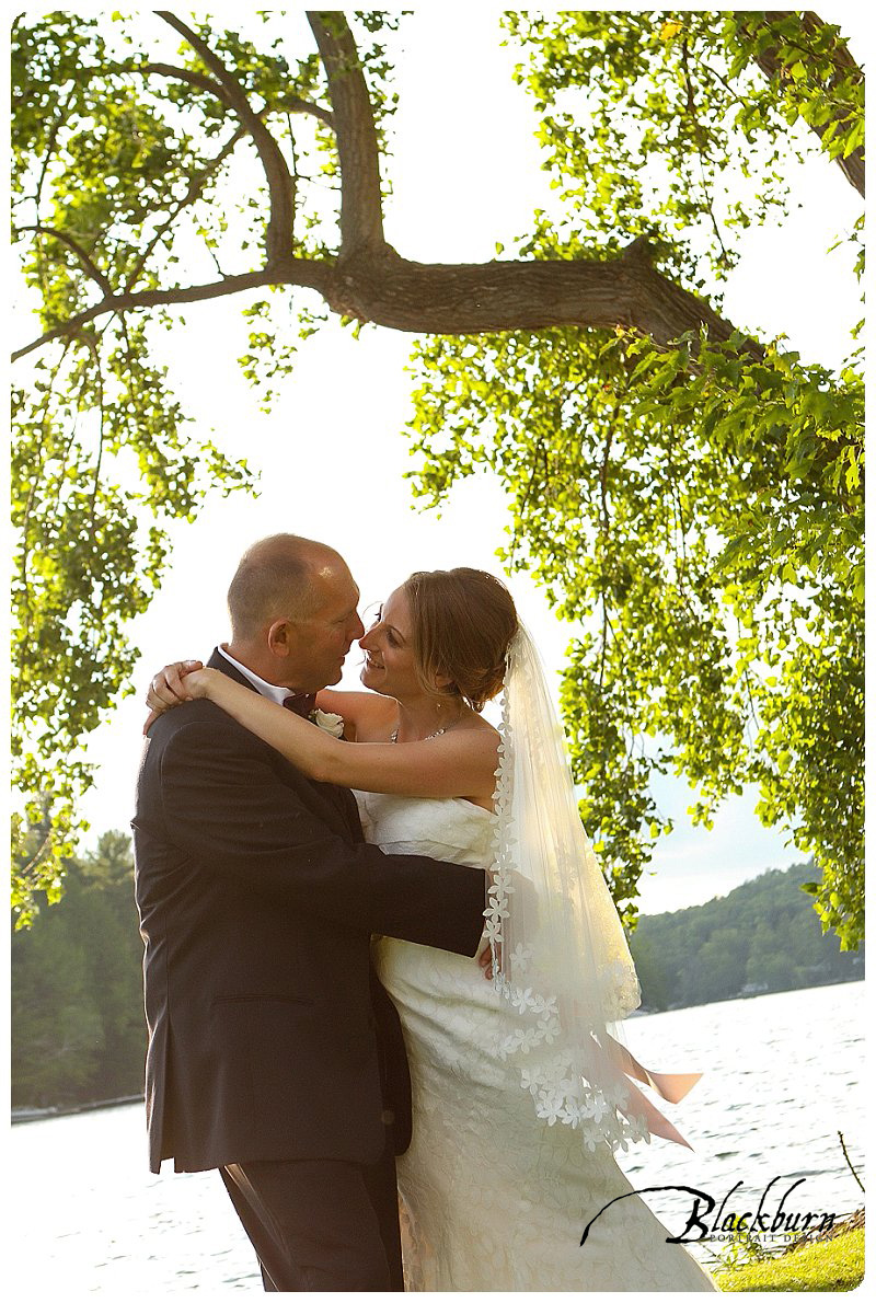 Crooked Lake Outdoor Summer Wedding Photos