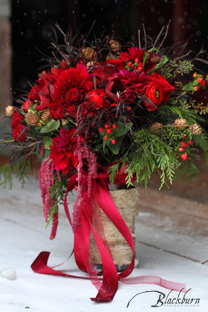 Lake Placid Winter Wedding Detail Photo
