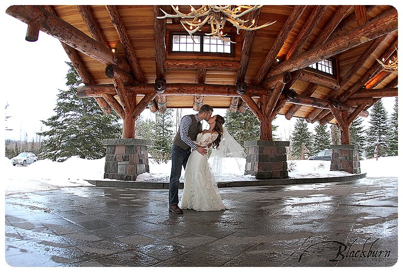 Whiteface Lodge Bride and Groom Photo
