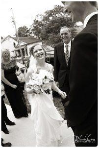Black and White Saratoga Wedding Photo