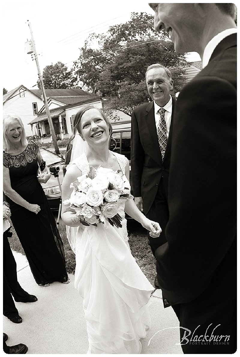 Black and White Saratoga Wedding Photo