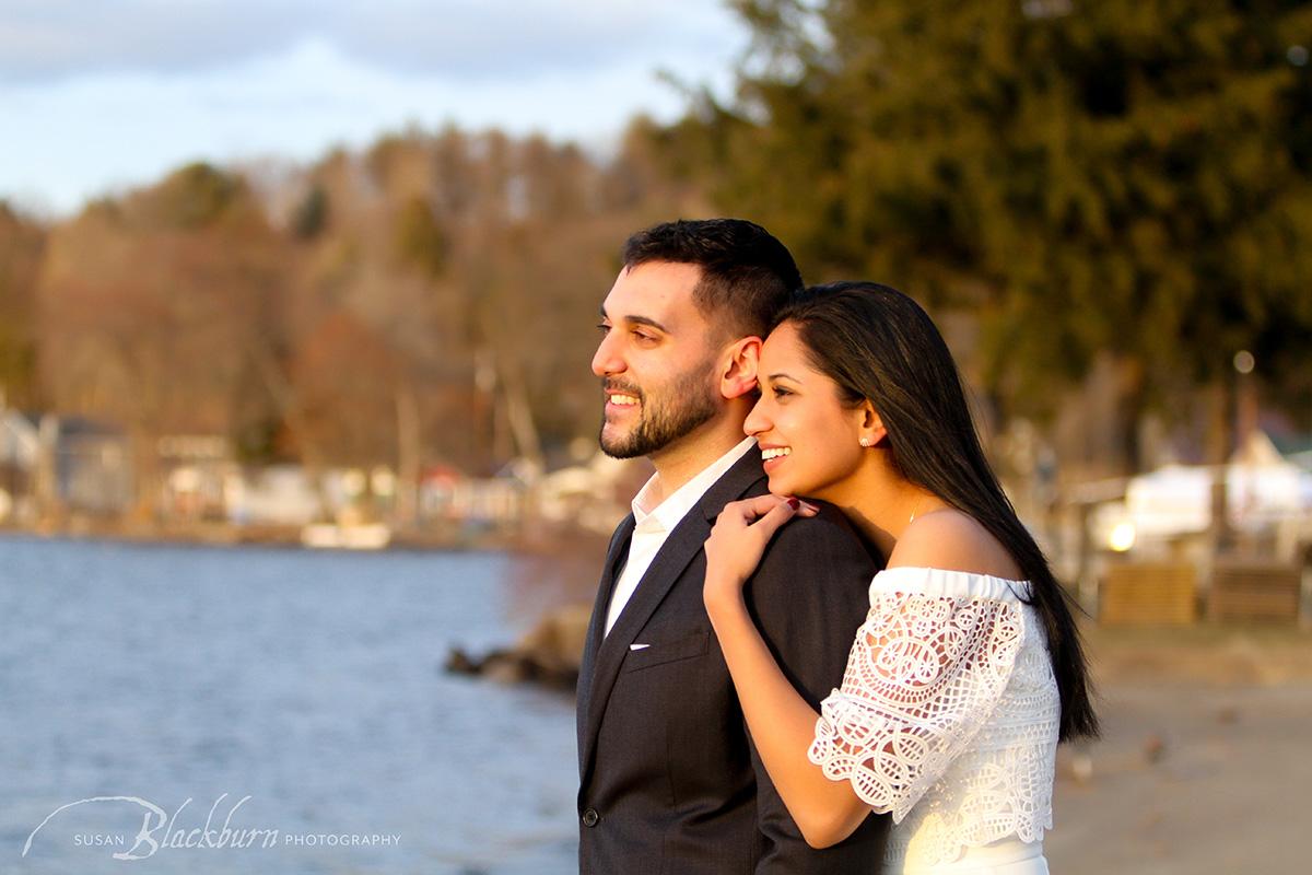 Saratoga Lake Engagement Photos