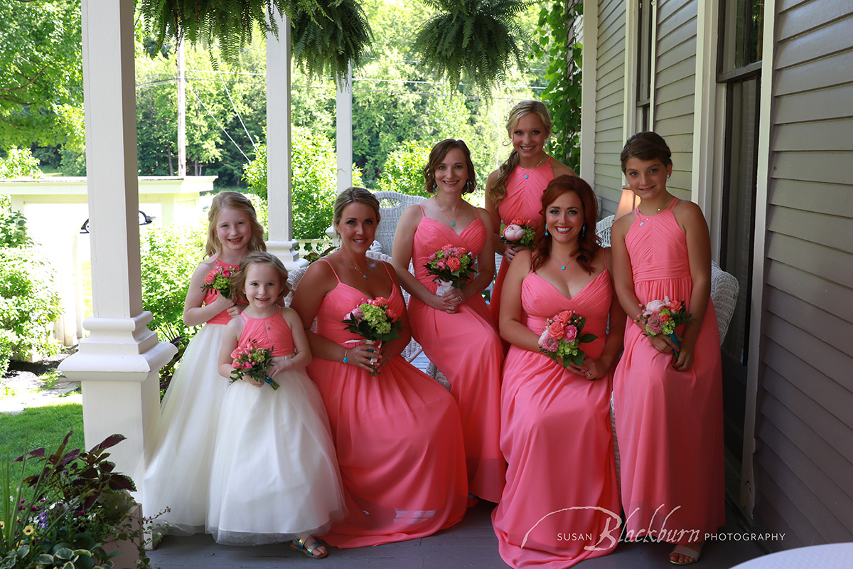 Bridal Party Picture Mansion Inn