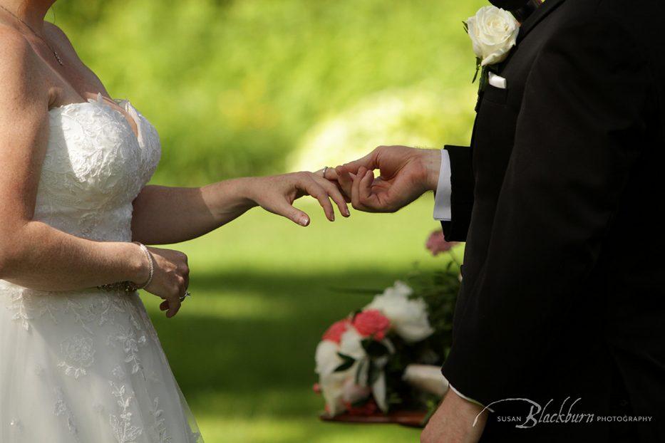 Summer Wedding Ceremony Mansion Saratoga Photo