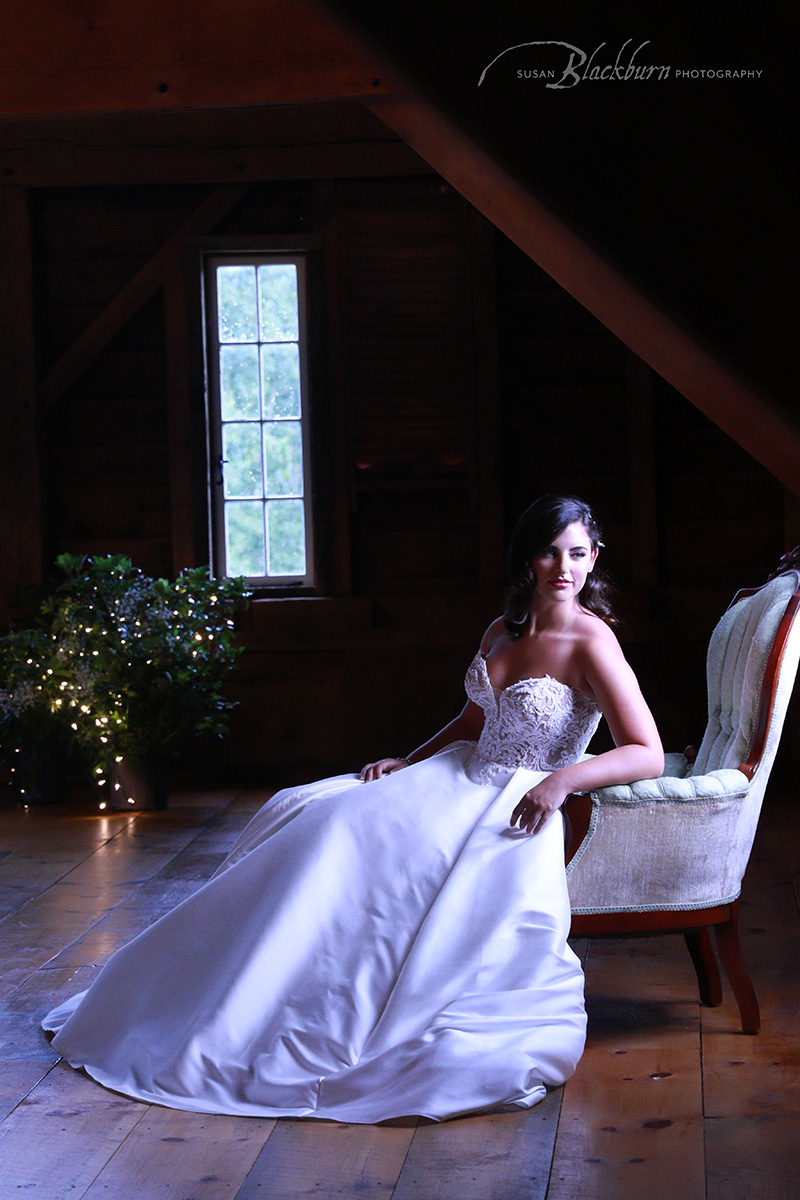 Rustic Chic Winter Bridal Image