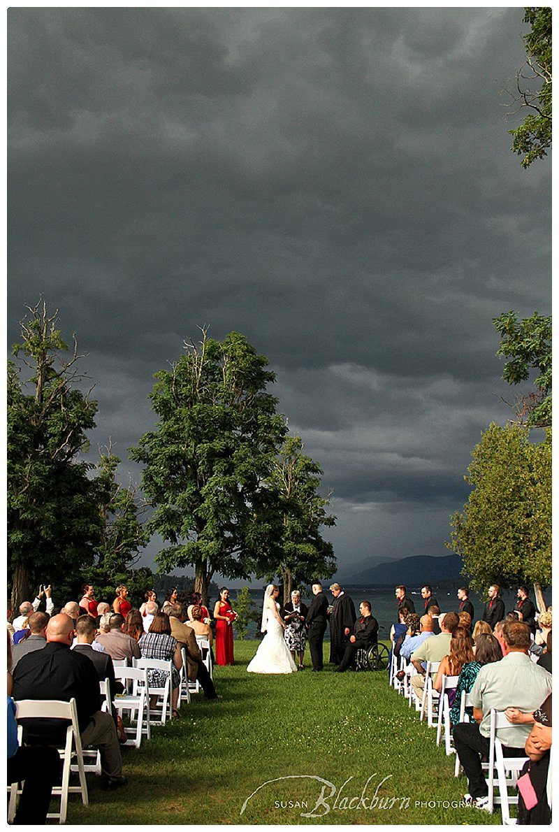 Lake George Wedding Ceremony Photo