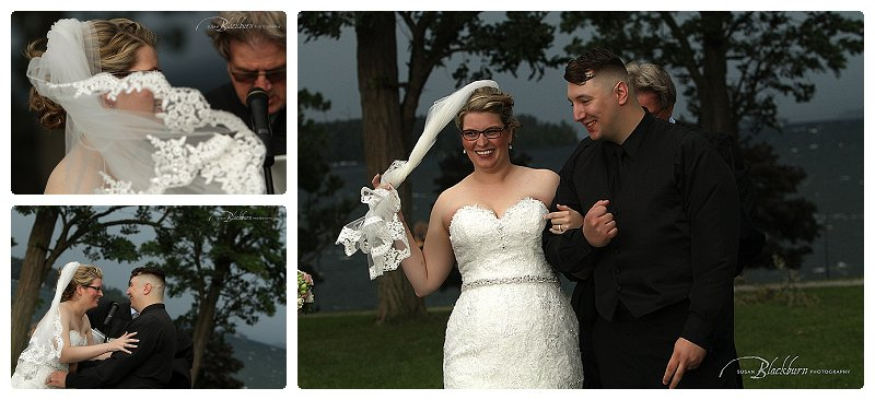 Outdoor Summer Wedding Ceremony Photos Lake George NY