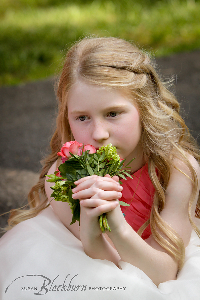 Summer Wedding Mansion Saratoga Flower Girl