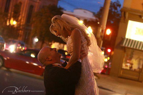 Downtown Saratoga Springs NY Wedding Photo