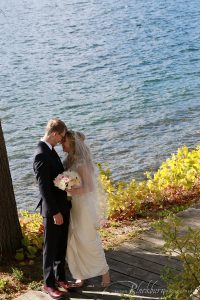 Lake George Fall Wedding Photo
