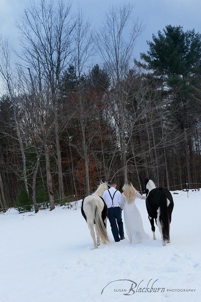 Winter Engagement Session Saratoga Springs NY