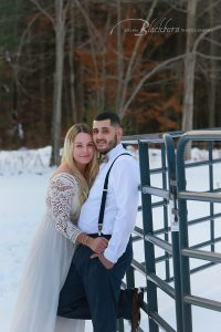 Wintery Engagement Photo Session Saratoga Springs NY