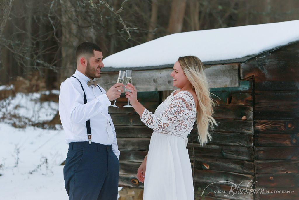 Loon Meadows Barn Engagement Photo