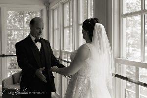 Black and White Wedding Photo Gideon Putnam Resort