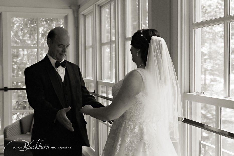 Black and White Wedding Photo Gideon Putnam Resort