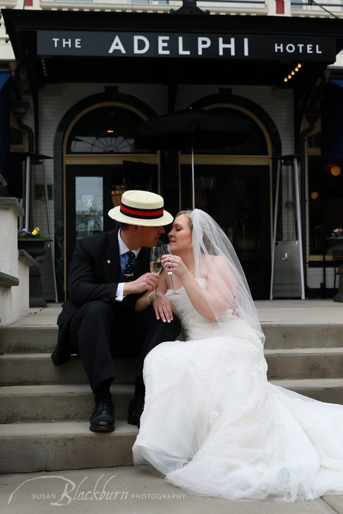 Saratoga Springs NY Adelphi Hotel Wedding