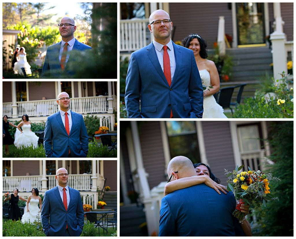 Saratoga NY First Look Wedding Photos