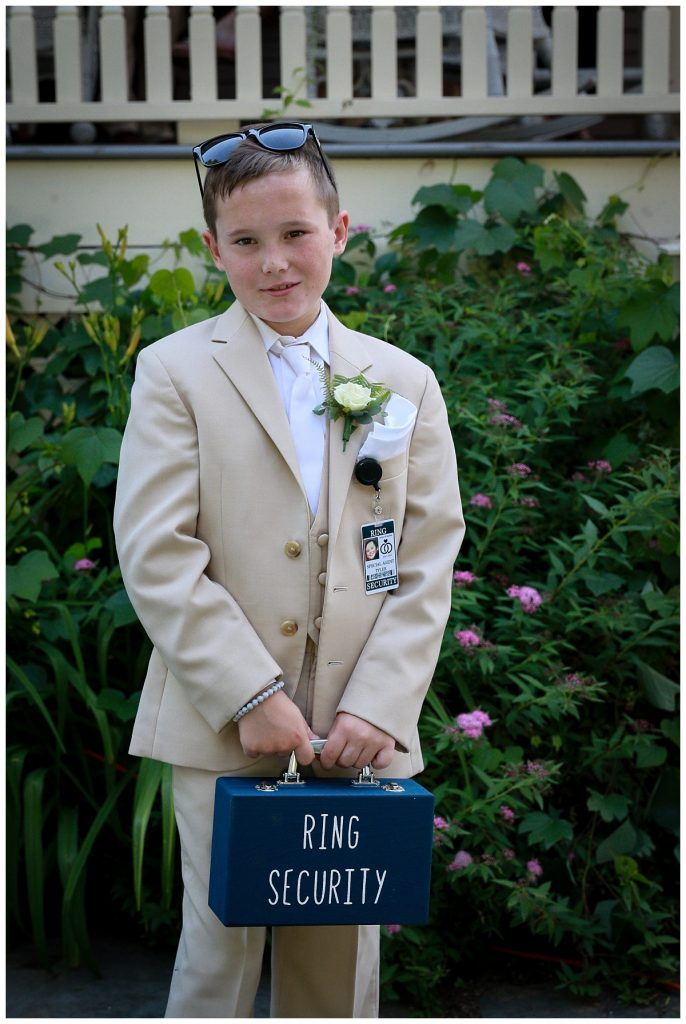 Saratoga NY Ringbearer Photo