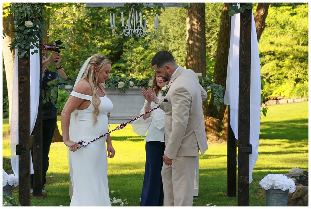 Hand fasting wedding photo saratoga ny
