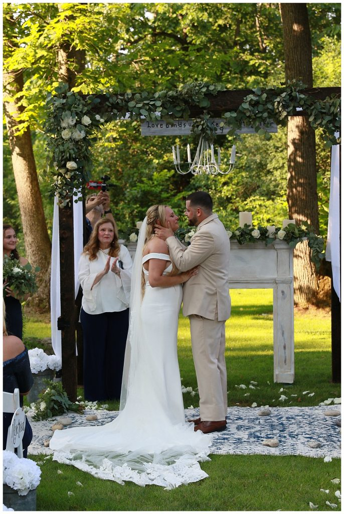 Wedding Ceremony Kiss Photo Saratoga NY