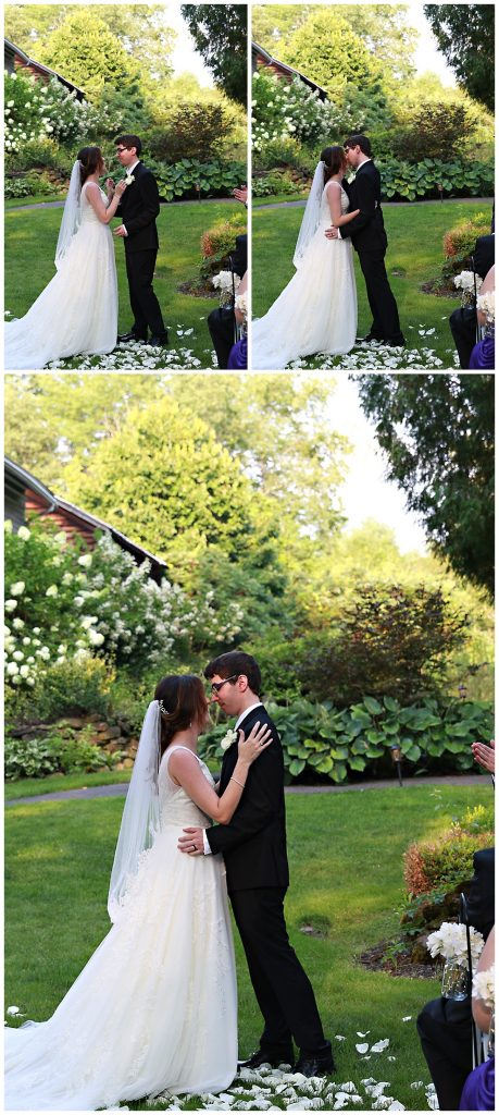 Wedding Ceremony Kiss Photos