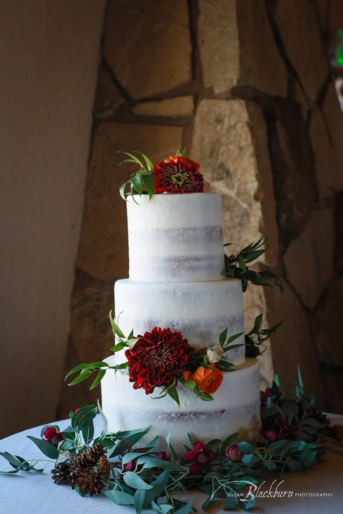 Utah Wedding Reception Cake Photo