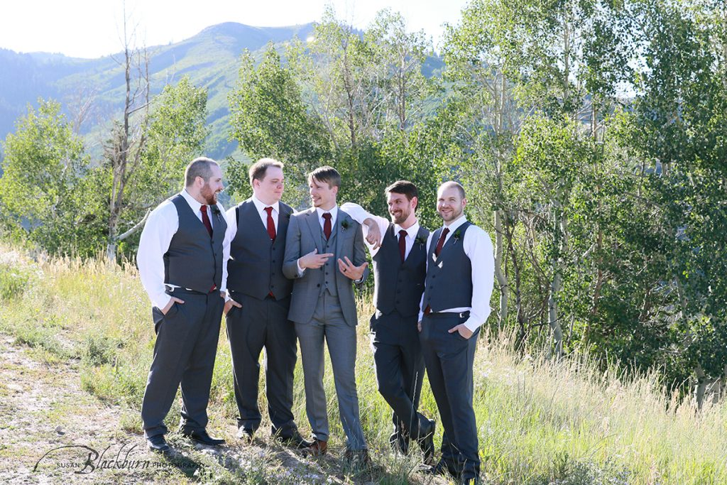 Groomsman photo Park City