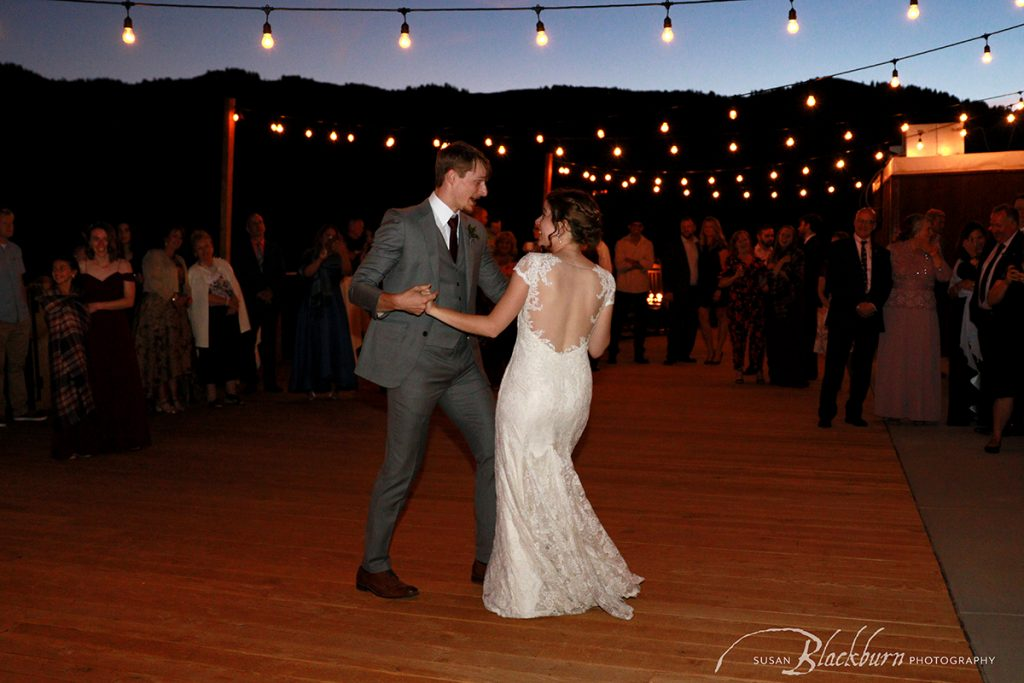 Utah Wedding Reception First Dance Photo