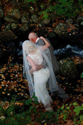 Fall Foliage Wedding Photo