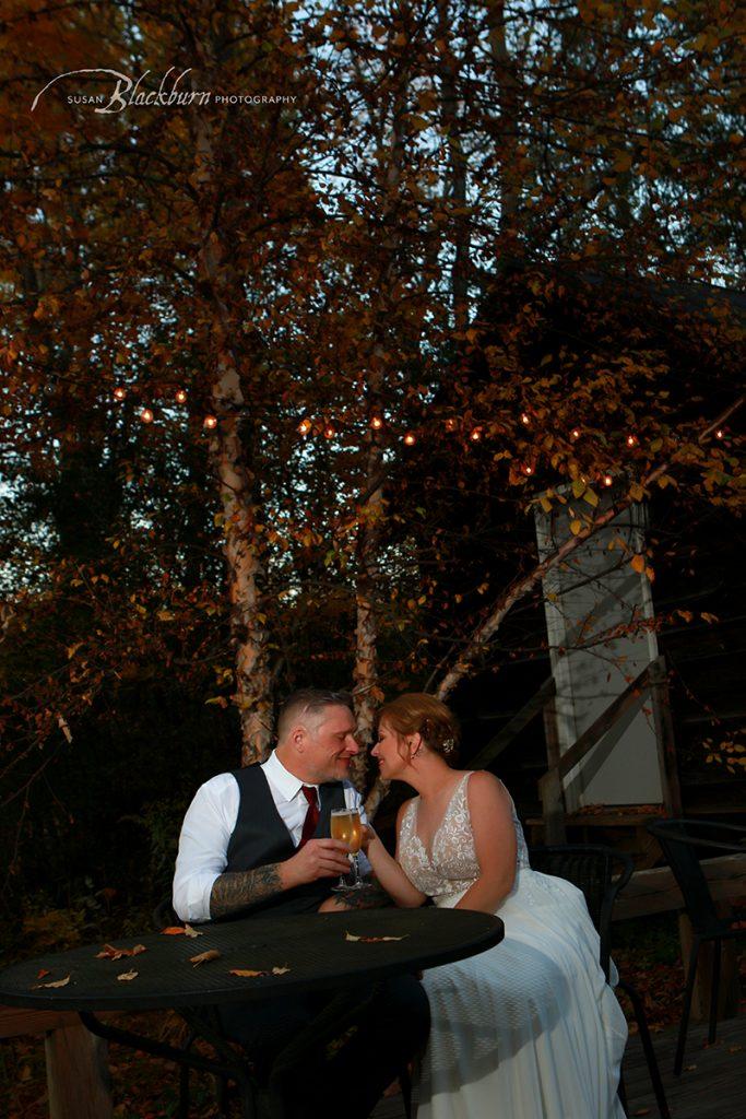 Fall Evening Wedding Photo NY