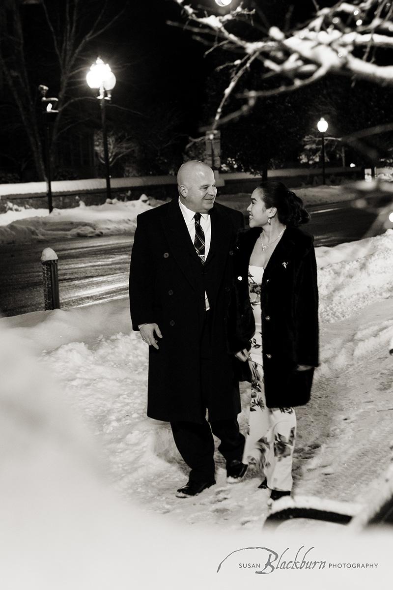 Snowy Winter Elopement Saratoga NY
