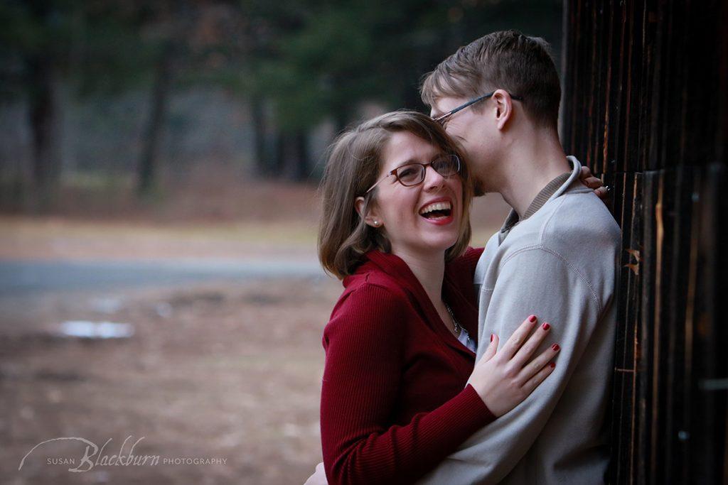 Saratoga NY Winter Engagement Photos