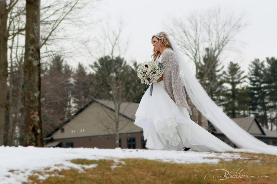 Saratoga NY Winter Wedding Photo