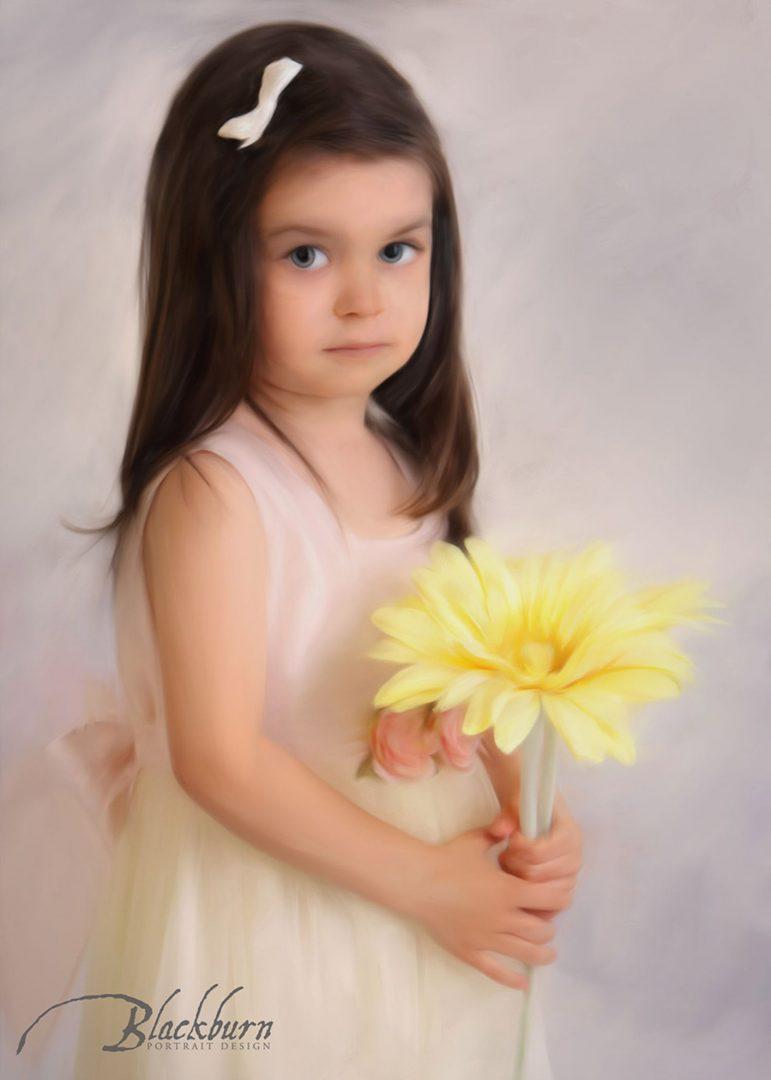 Painted Portrait Photo