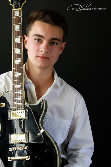 High School Senior Boy Musician Photo