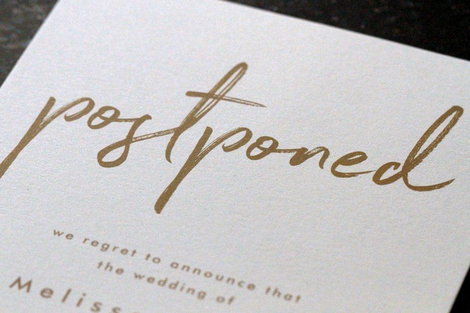 Destination Wedding Postponement