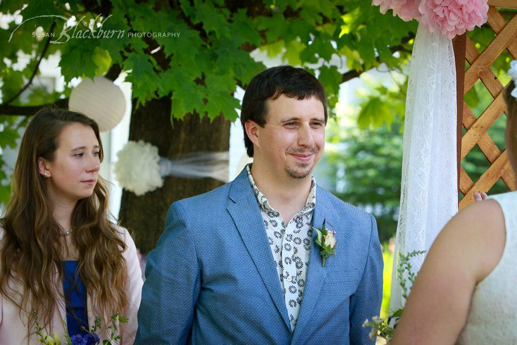 Saratoga NY Backyard wedding