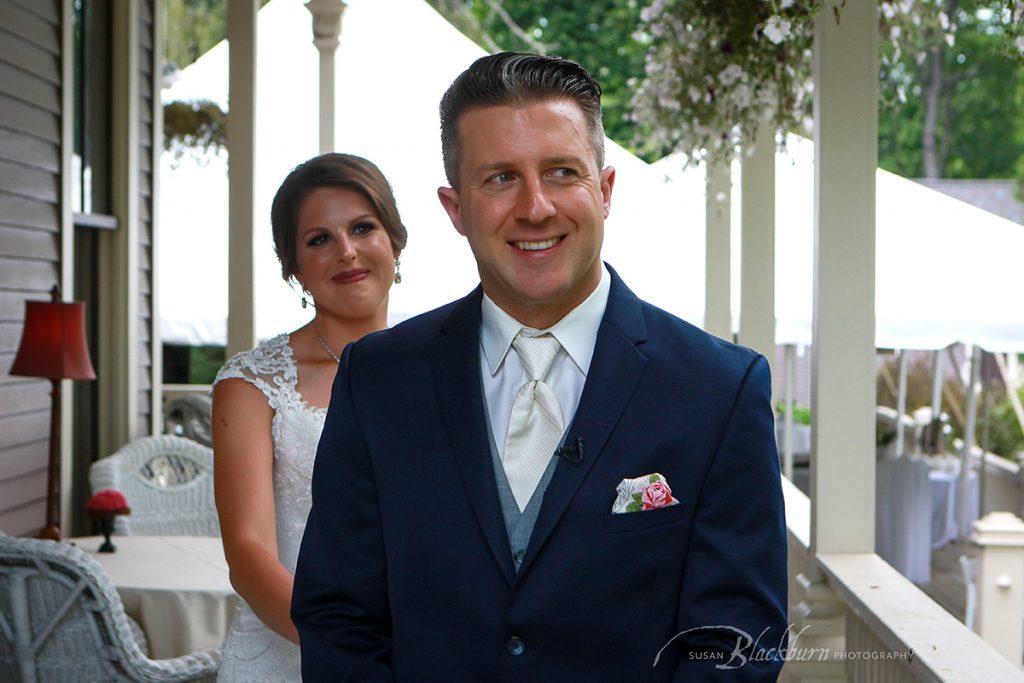 First Look Wedding Photo Saratoga NY