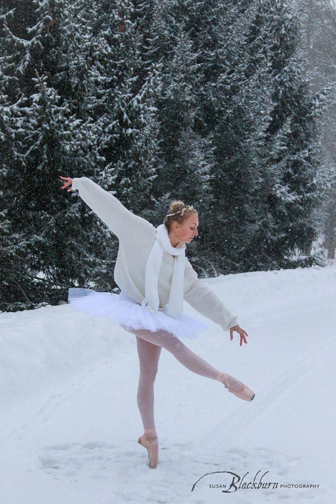 Ballet Snow Portrait