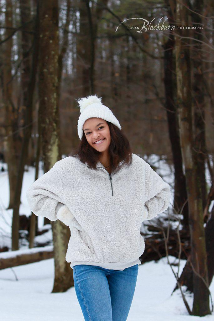 Winter Senior Portraits Saratoga NY