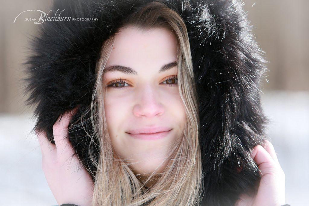 Winter Senior Portraits Upstate NY
