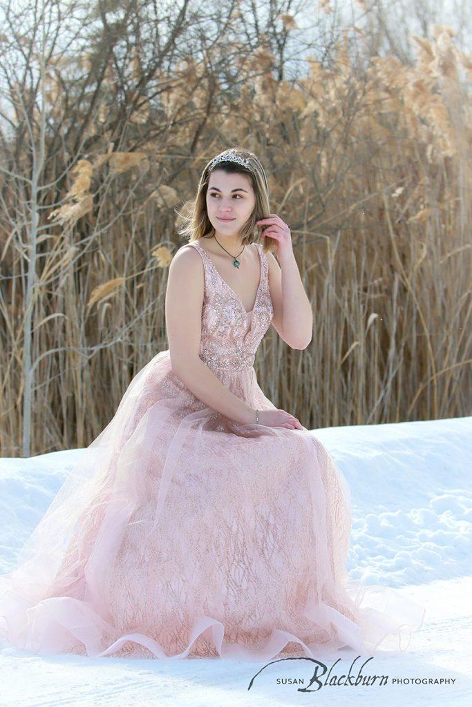 Winter Senior Snow Portraits